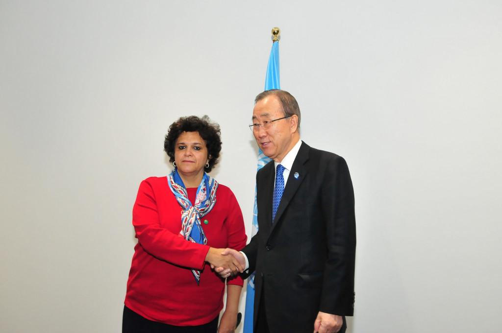 COP 21 Ministra Izabella Teixeira Ban Ki-moon - Crédito
