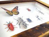 Artista cria diversidade de insetos usando papel reciclado