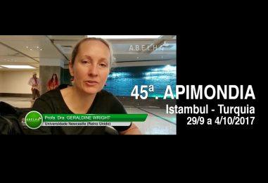Apimondia 2017 – Geraldine Wright