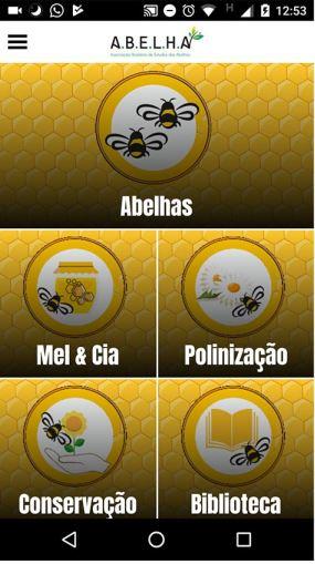 abelha lança app para estudantes e professores tela principal
